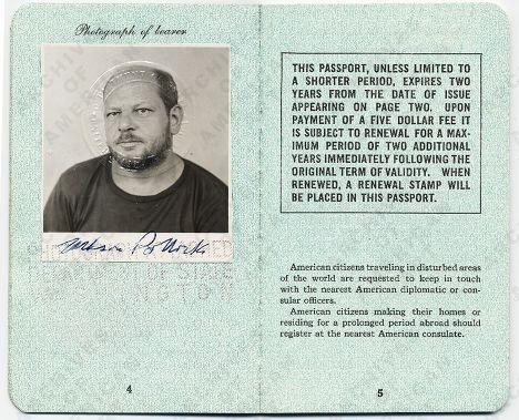 Паспорт Пола Джексона Поллока, американского художника, идеолога