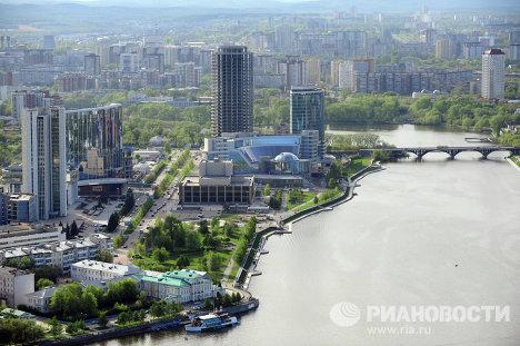 """Смотровая площадка на небоскребе """"Высоцкий"""" в Екатеринбурге"""