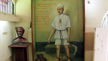 Камера в Сотовой Тюрьме, где сидел Саваркар