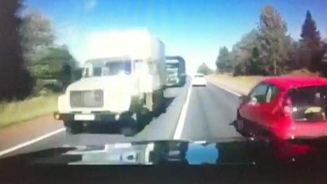 ДТП с машиной губернатора Никиты Белых. Запись видеорегистратора