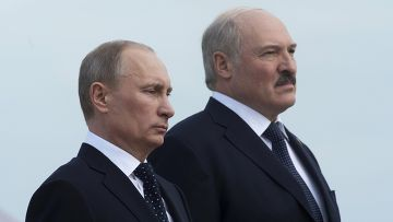 Президент РФ Владимир Путин и президент Республики Белоруссия Александр Лукашенко