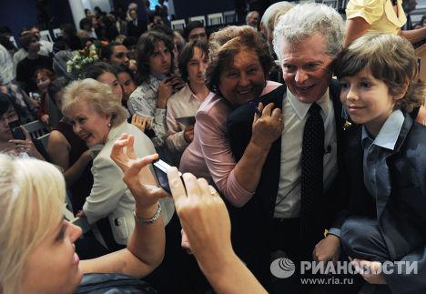 Мастер-класс американского пианиста Ван Клиберна в Москве