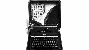Пишущая машинка с радиомаяком