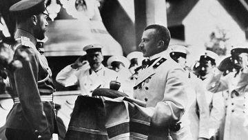 Император Николай II и городской голова Н. К. Шелашинов