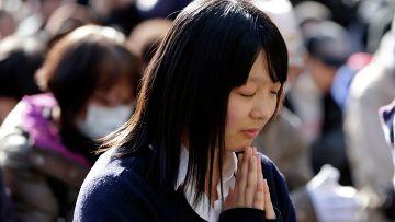 Минута молчания в честь погибших и пропавших без вести во время землетрясения и цунами 2011 года в Японии