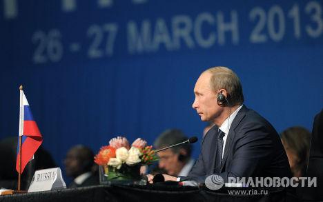 Владимир Путин принимает участие в саммите БРИКС, 2013 г.