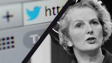 Новость о смерти Маргарет Тэтчер в Twitter