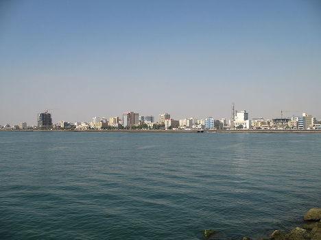 Вид на город Бандар Аббас в Иране