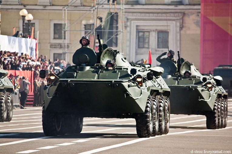 Генеральная репетиция парада на Дворцовой площади, 2013 год
