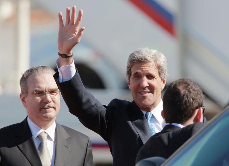 Госсекретарь США Джон Керри в Москве