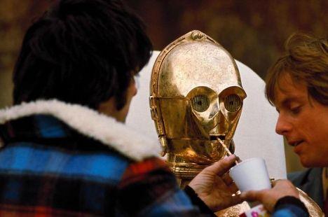 На съемках фильма «Звёздные войны»
