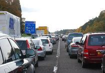 Пробки на дорогах Англии