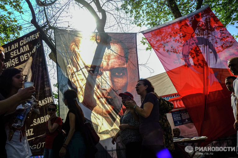Портрет Кемаля Ататюрка в парке Гези в Стамбул
