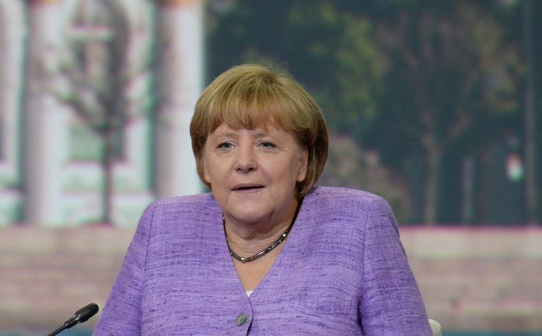 Канцлер Германии Ангела Меркель на Петербургском международном экономическом форуме