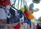 """Фотография Нельсона Манделы с надписью """"Вы всегда будете нашим героем"""" в Претории"""