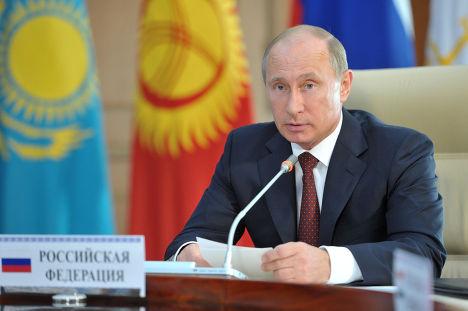 Рабочая поездка В.Путина в Киргизию