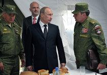 В.Путин наблюдал за военными ученииями на забайкальском полигоне