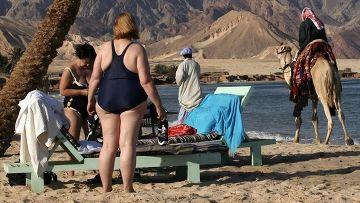 Туристы и бедуины на Синайском полуострове