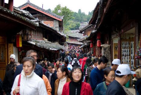 Торговая улица в Китае