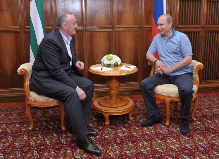 Владимир Путин в Абхазии