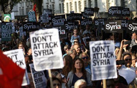 Митинг против нападения на Сирию