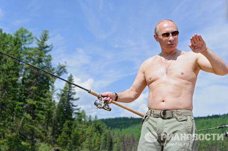 В. Путин на отдыхе