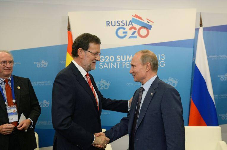 Встреча Владимира Путина с Мариано Рахоем