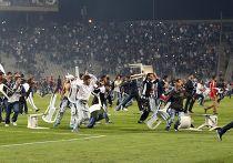 Беспорядки во время матча «Бешикташ» - «Галатасарай» в Стамбуле
