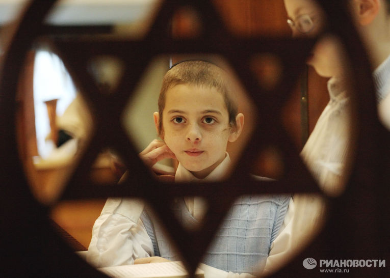 """Церемония """"благословения солнца"""" в Московском еврейском центре"""