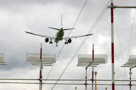 Самолет  в Шереметьево.