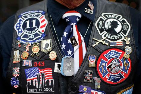 Ветеран вьетнамской войны на параде на 5-й авеню в Нью-Йорке, 11 ноября 2013 года.