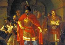 Картина Павла Чистякова «Патриарх Гермоген в темнице отказывается подписать грамоту поляков» (1860)
