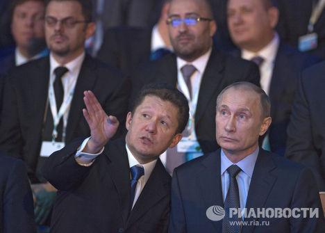 Владимир Путин и Алексей Миллер принимают участие в запуске проекта газопровода «Южный поток»