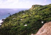 Вид на Адамстун, главный и единственный город на островах Питкэрн
