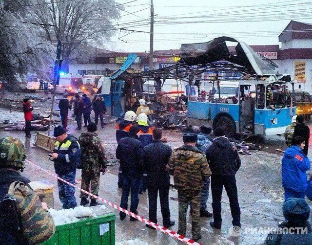 Взрыв в троллейбусе в Волгограде