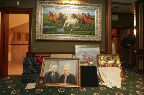 Картины в доме бывшего генпрокурора Украины Виктора Пшонки