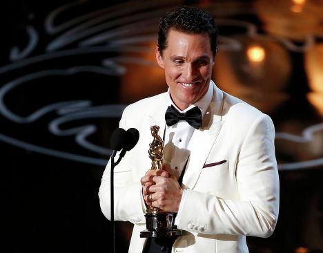 """Американский актёр Мэттью Макконехи на 86-й церемонии вручения премии """"Оскар"""""""
