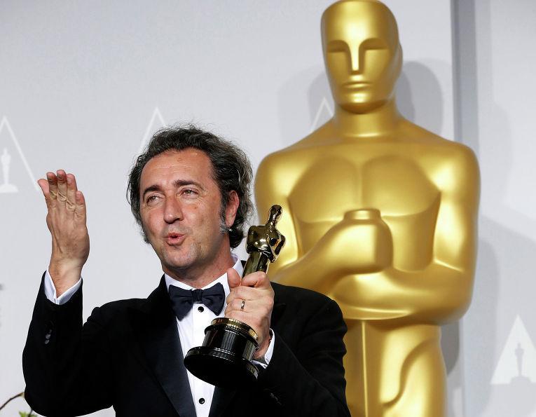 """Итальянский кинорежиссёр Паоло Соррентино на 86-й церемонии вручения премии """"Оскар"""""""