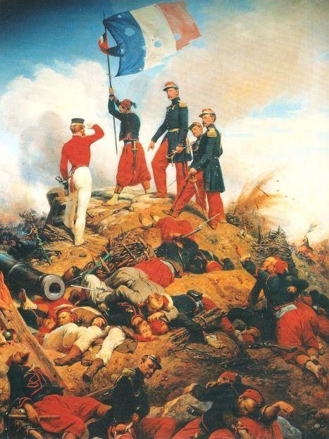 Орас Верне (Horace Vernet), 1858 год. Взятие Малахова кургана генералом Мак-Магоном и его зуавами во время осады Севастополя.