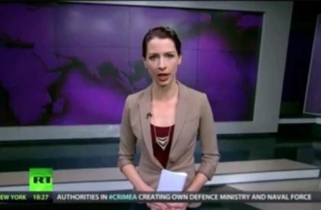 Ведущая RT Эбби Мартин, назвавшая российскую политику в отношении Крыма «неправильной»