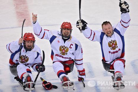 Паралимпиада 2014. Следж-хоккей. Матч США - Россия