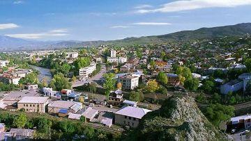 Вид на город Ахалцихе в Грузии