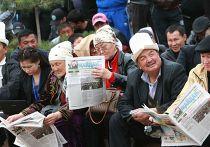 Митинг оппозиции в Бишкеке