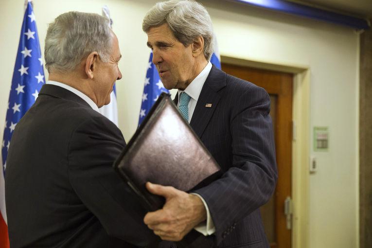 Встреча Биньямина Нетаньяху и Джона Керри в Иерусалиме