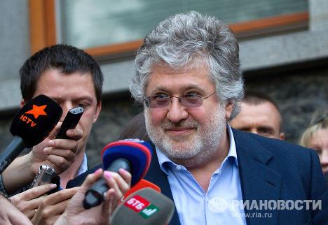 Глава Днепропетровской ОГА Игорь Коломойский отвечает на вопросы журналистов