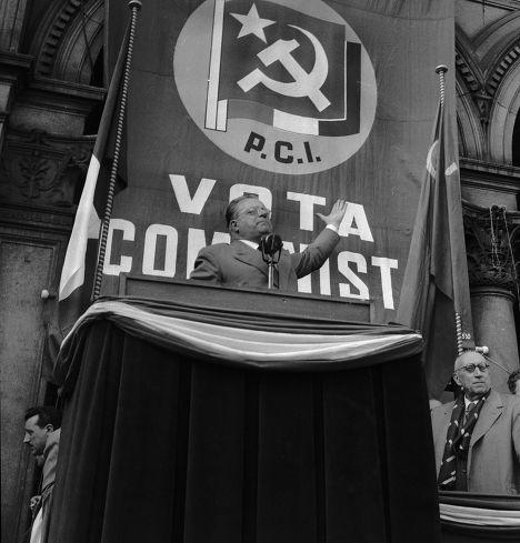Лидер Итальянской коммунистической партии Пальмиро Тольятти