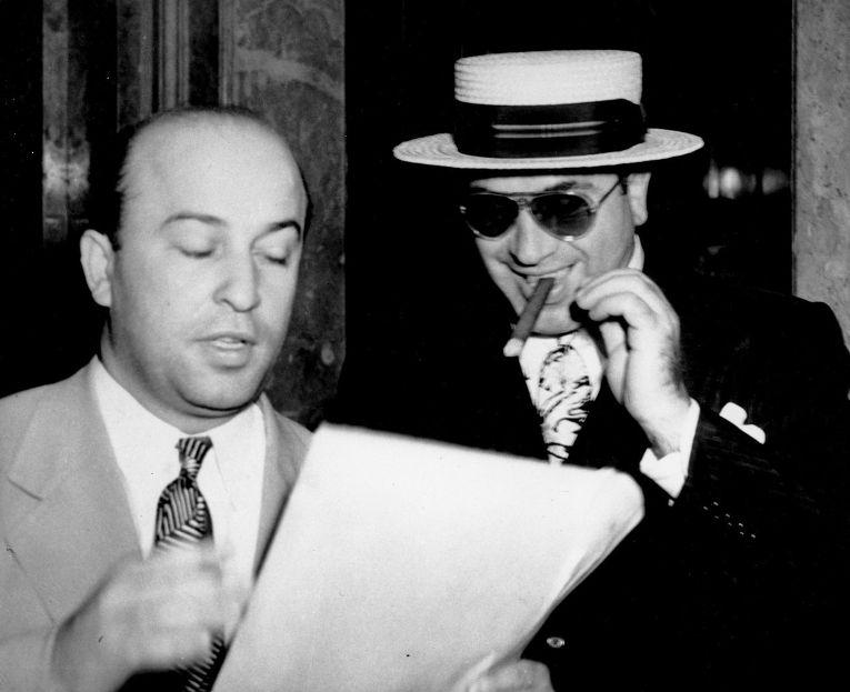Аль Капоне со своим адвокатом