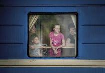 Поезд отправляется из Донецка в Крым