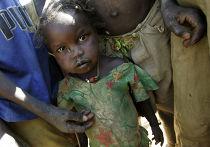 Дети в лагере для беженцев Гоз-Бейда в Чаде