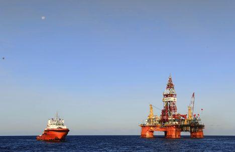 Нефтяная вышка в Южно-Китайском море